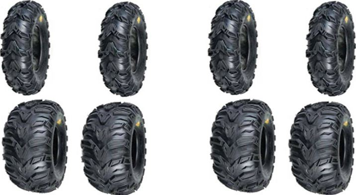 2 FRONT 2 REAR ATV MUD REBEL New TIRES