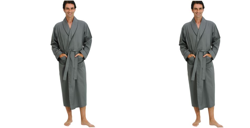 Del Rossa Men's 100% Cotton Lightweight Woven Bathrobe Robe Top 10 Best Selling Bath Robes For Men 2017