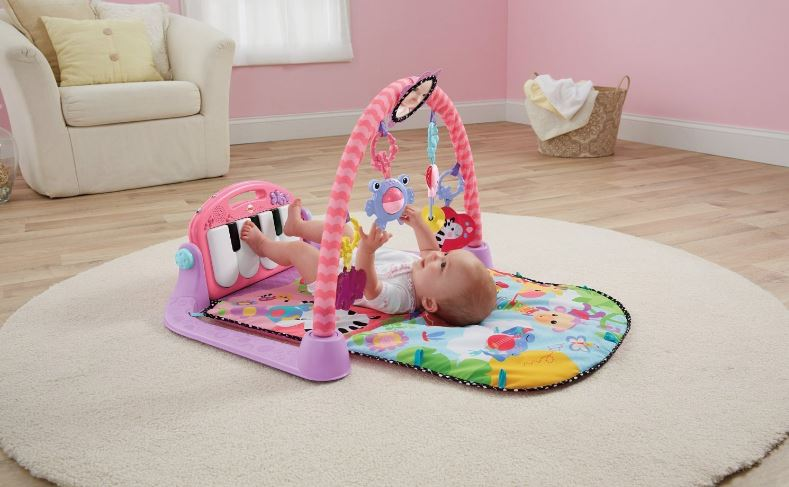 Fisher-Price Kick and Play Piano Gym Top Famous Selling Baby Activity Mats in 2019