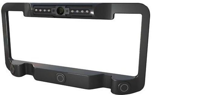 Power Acoustik License Plate Frame with Camera and Sensors