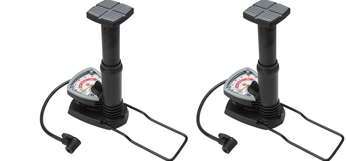 Schwinn's foot activated floor pump with gauge