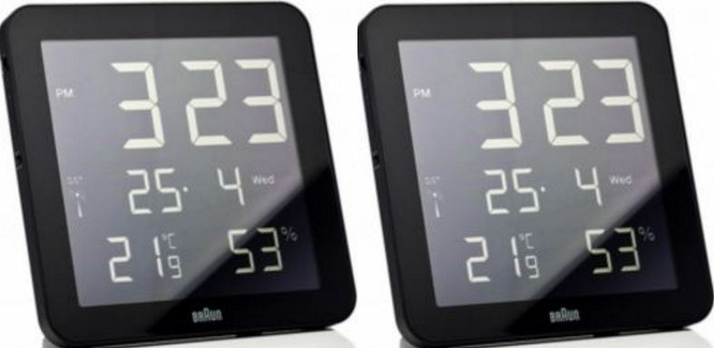 TelTime Atomic Radio Control With Temperature Office Wall Clock