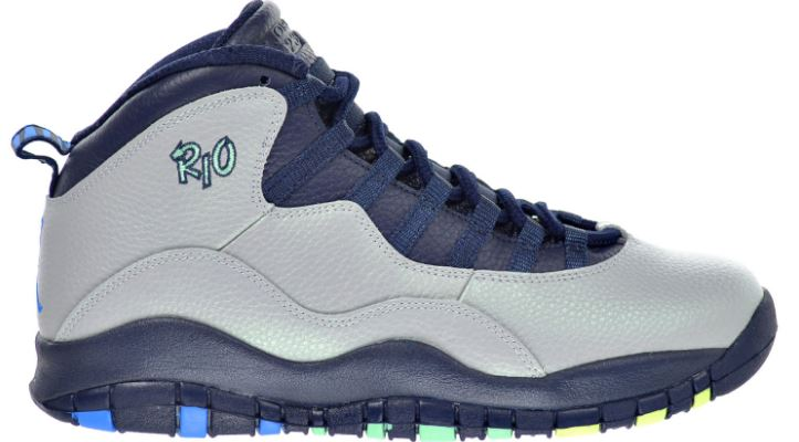 Air Jordan 10 Retro Rio men's shoe, wolf gray Top Most Popular Selling Air Jordan Releases 2018
