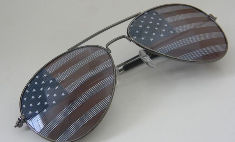 American USA flag design metal frame aviator unisex sunglasses Top 10 Best Selling American Made Clothing 2017