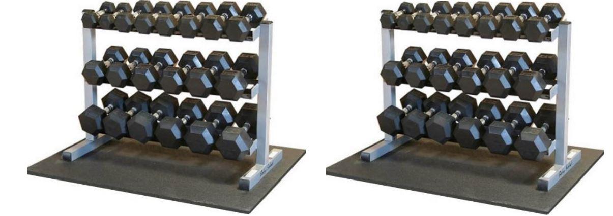 Body Solid, Dumbbell Rack with Rubber Dumbbells Top Best Selling Adjustable Dumbbells 2017