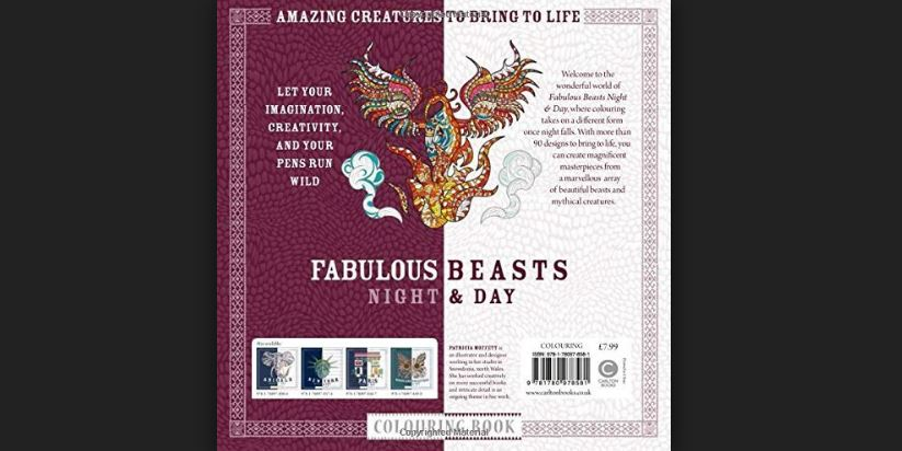 Fabulous Beasts Night & Day Coloring book- Incredible Creatures to bring to life Top Most Popular Selling Adult Coloring Books 2018