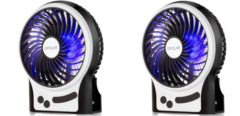 OPOLAR F201 Portable Rechargeable Fan Top 10 Best Selling Battery Operated Fans