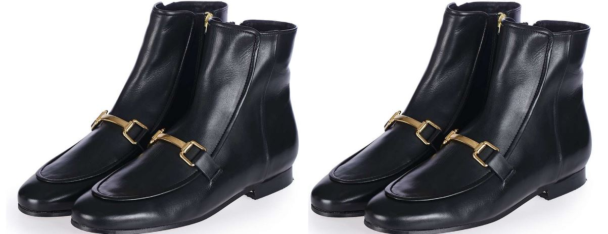 Topshop apple-pie loafer boots