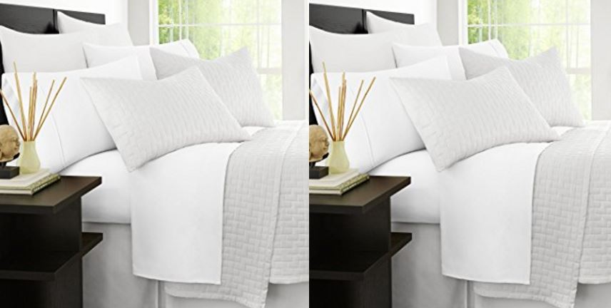 Zen bamboo hypoallergenic and wrinkle resistant ultra-soft 4- piece bamboo king bed sheets, white