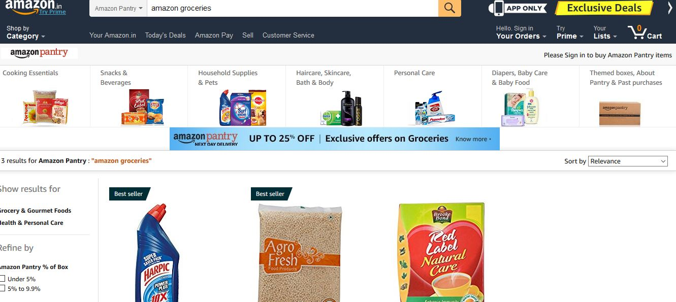 Amazon Grocery Top Popular Online Grocery Stores in World 2017