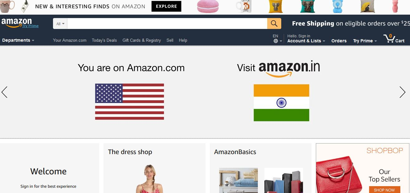 Top 10 best online shopping websites in the world 2018 for Top ten online stores
