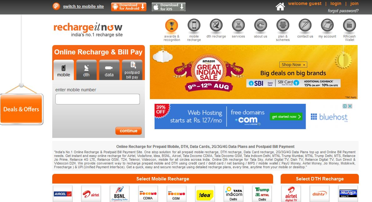 Best Mobile Recharge Site