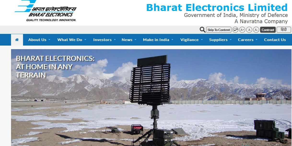 Bharat Electronics Limited Top Popular Electronic Companies in India 2018