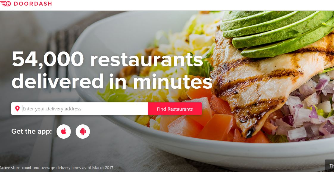 Doordash Top 10 Most Downloaded Food Ordering Apps in The World 2017