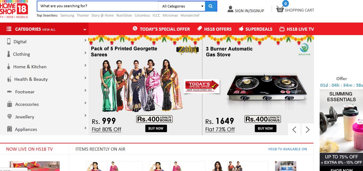 Best online fashion shopping sites in india fashion today for Online shopping websites list