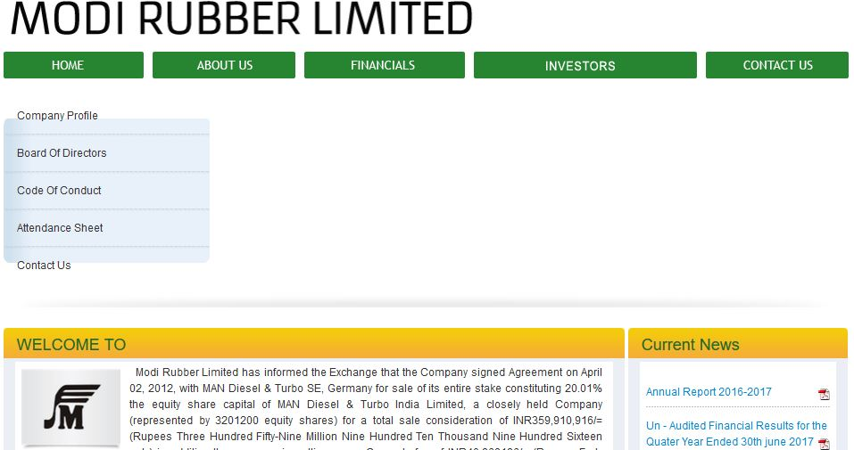 Modi Rubber Limited Top Famous Largest Tyre Manufacturing Companies in India 2017