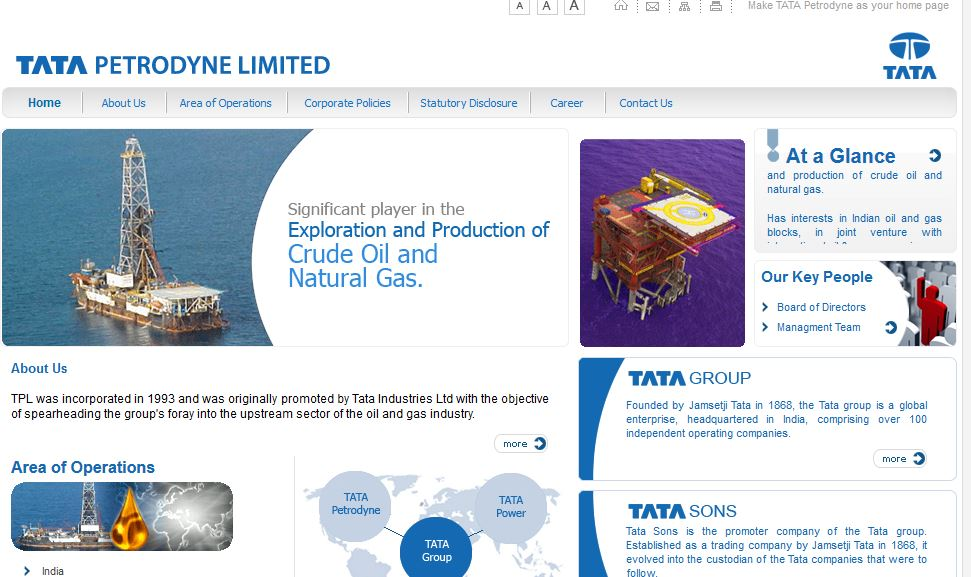 Tata Petrodyne Top Most Famous Oil and Gas Companies in India 2017