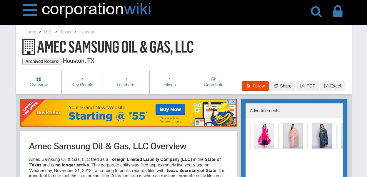 AMEC Samsung Oil and Gas, LLC.