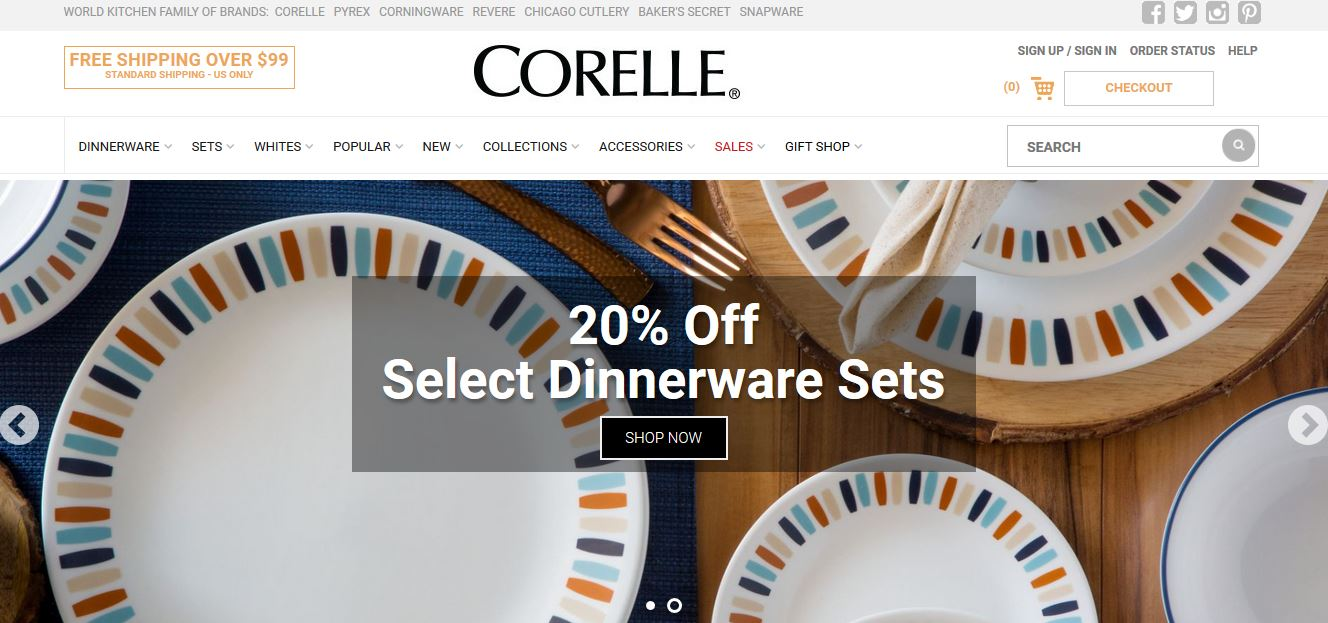Corelle Top Most Popular Crockery Brands in India 2018