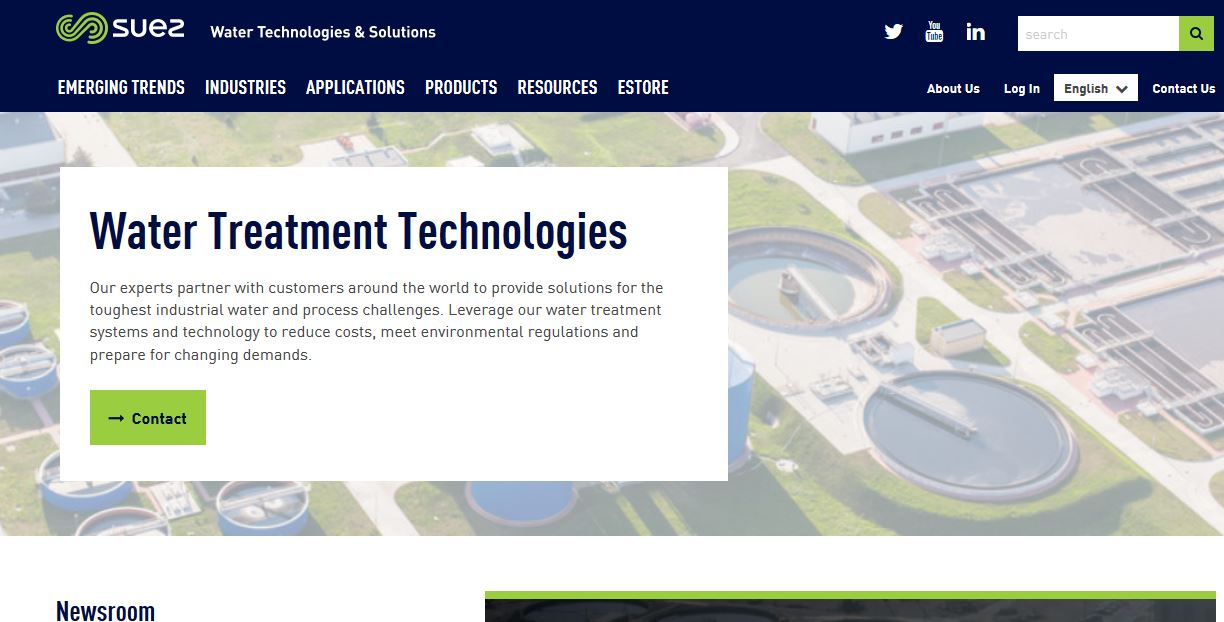 Water Treatment Company Product : Top best water treatment companies in the world