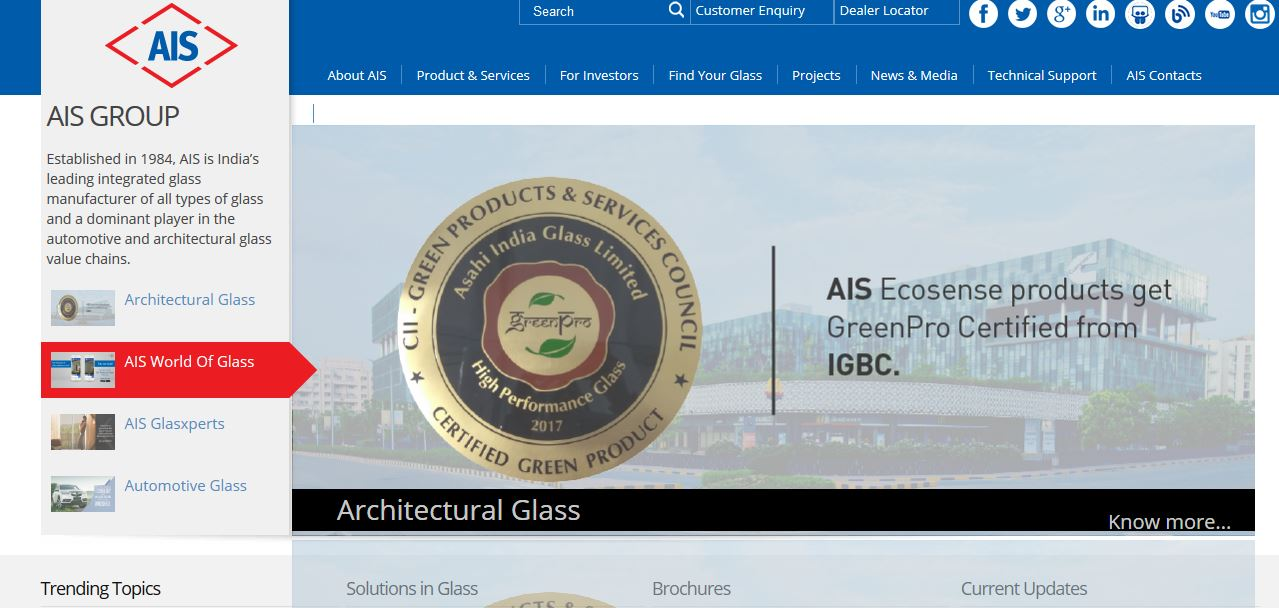 Best Glass Manufacturing Companies in India 2019