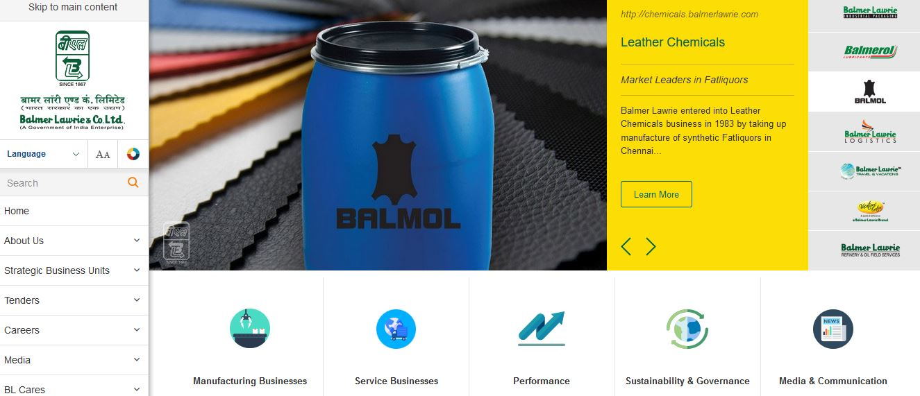 Balmer Lawrie and Company Ltd Top Famous Packaging Companies in India 2018