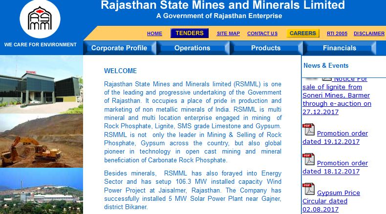 Rajasthan State Mines and Minerals Limited